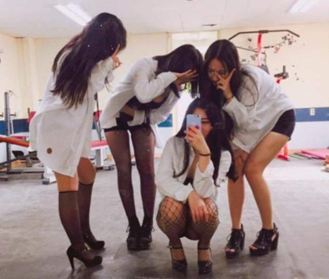 韓国の女子高生