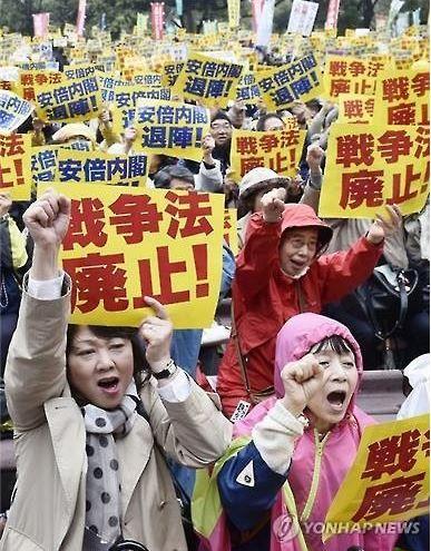 安保関連法の反対や原発反対デモ