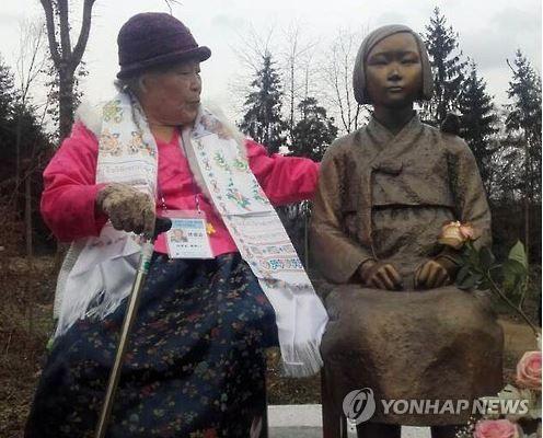 欧州初の「平和の少女像」