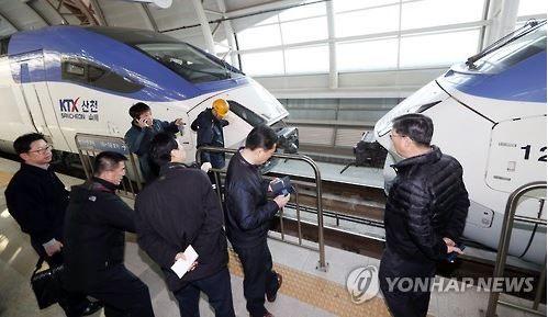 KTX列車が機関の故障