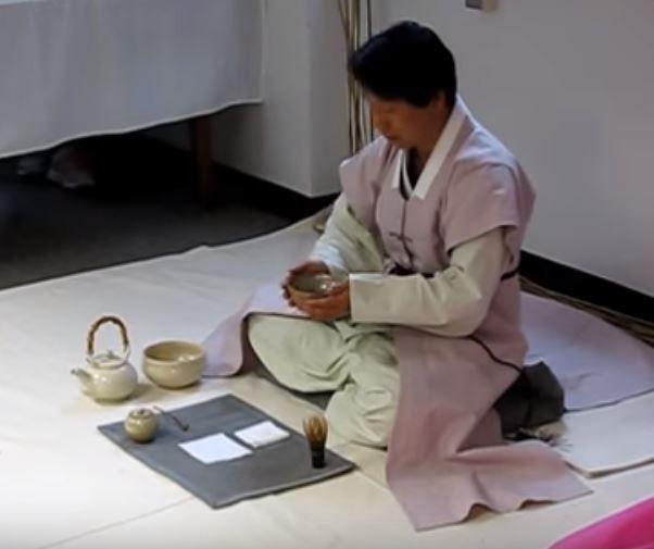 韓国の抹茶茶道