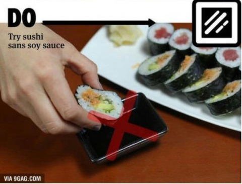 how to eat sushi 1
