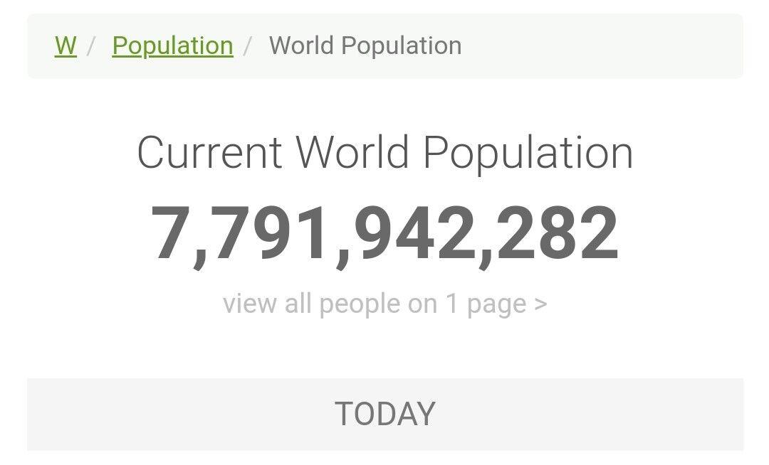 世界 人口 リアルタイム