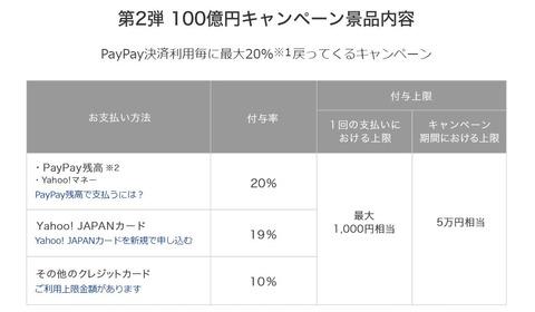 paypay第2弾キャンペーン20190215