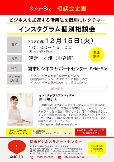 インスタグラム相談会 チラシ 20201215
