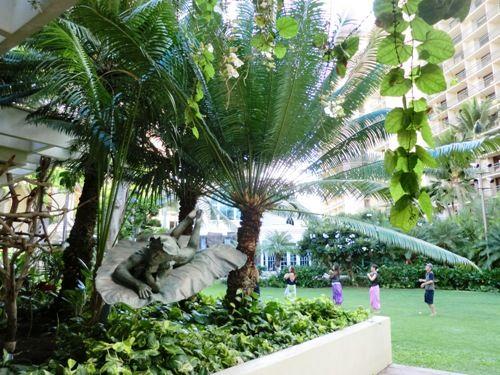 2014ハワイヒルトンの中庭