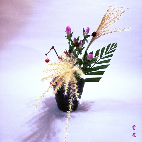 20191023ススキのミニ自由花