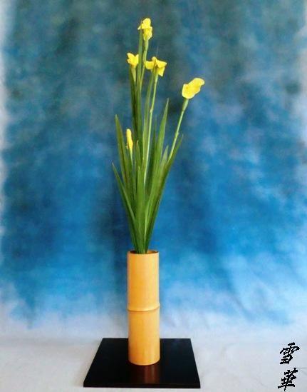 12-6-13花ショウブ一種生け縮小版
