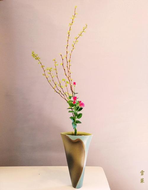 20210331生花二種キバデマリ、ミニバラ