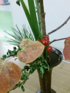 古典立花教室ー秋立て花下生け携帯撮影版5