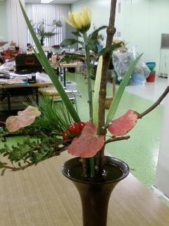 古典立花教室ー秋立て花下生け携帯撮影版4