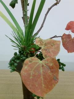 古典立花教室ー秋立て花下生け携帯撮影版6