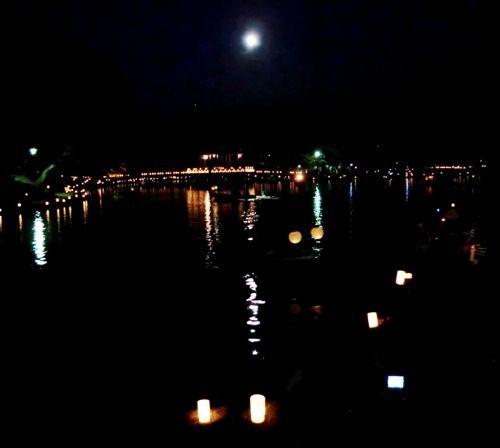 奈良燈花会の満月縮小版