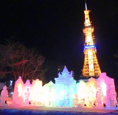雪まつりライトアップおもちゃの街