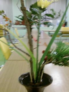 古典立花教室ー秋立て花下生け携帯撮影版3
