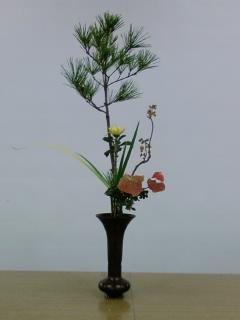 古典立花教室ー秋立て花下生け携帯撮影版1