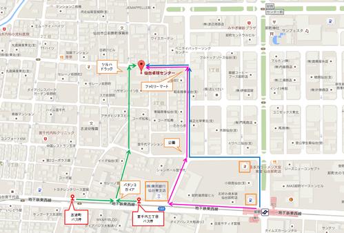 センター地図 グーグル地図加工版