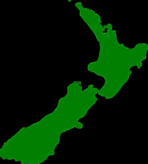 ニュージーランドシルエット