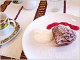 ふっくらチョコケーキとエチオピアン・コーヒー