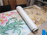 因州和紙剪画展の準備