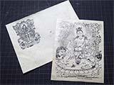 チベットのグリーティングカード