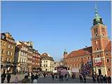 ワルシャワの旧市街地を歩く