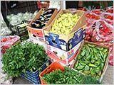 野菜市場と焼き野菜と