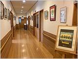 岩倉地区公民館で剪画の展示始まる