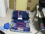 スーツケースに詰め込む