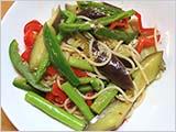 夏の野菜たっぷりパスタ