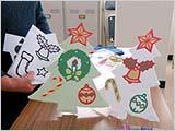 ワークショップ:和紙のクリスマスツリー