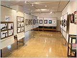 鳥取市立中央図書館での展示始まる