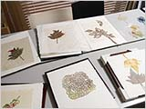 様々な和紙と作品と