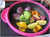 彩りの蒸し野菜