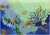 深い海の底