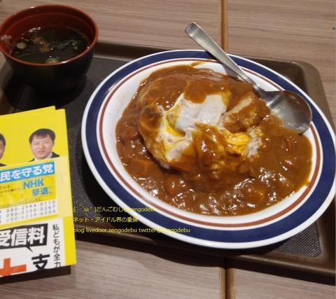 NHKから国民を守る党 立川市政対策委員 くぼた学 カツカレー