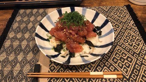 【画像】マグロ丼作った!!!!!