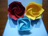 バラ折り紙