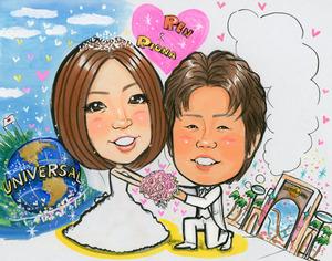 プロポーズのための似顔絵ボード~茨木市からのお客様