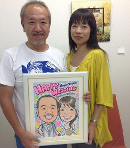 ハッピーバルーンの似顔絵ウェルカムボード~神戸市のお客様の声