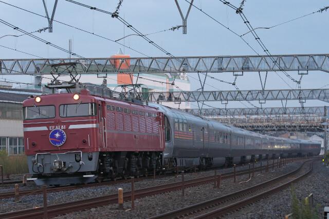 EF81-81+E26系(カシオペア紀行)20201108南浦和-蕨5