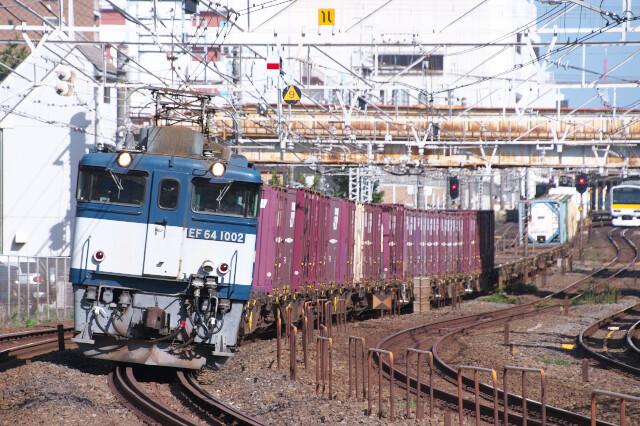 EF64-1002+貨物20200918西船橋-船橋2