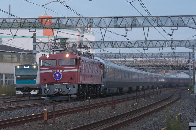 EF81-81+E26系(カシオペア紀行)20201108南浦和-蕨