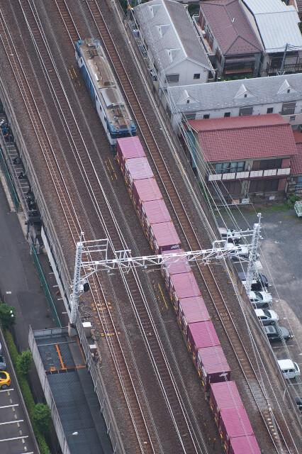 EF64-1027+貨物20190621小岩-市川(アイリンクタウン)2