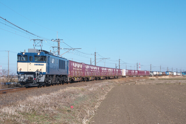 EF64-1045+貨物20210206滑河-下総神崎12