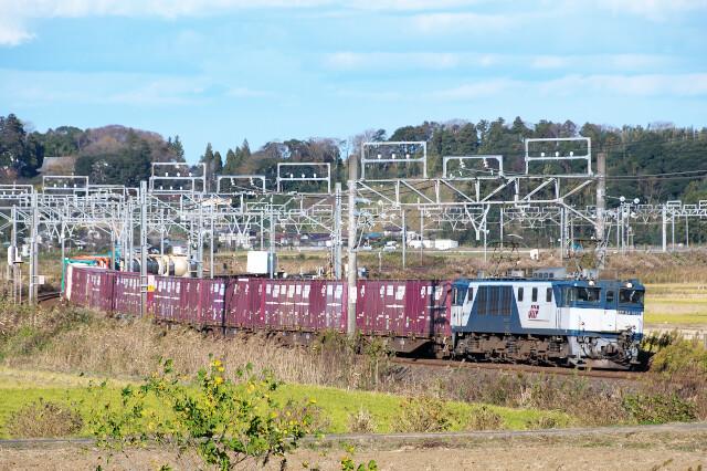 EF64-1013+貨物20201128佐倉-物井3