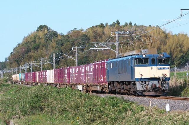 EF64-1022+貨物20191102久住-滑河5