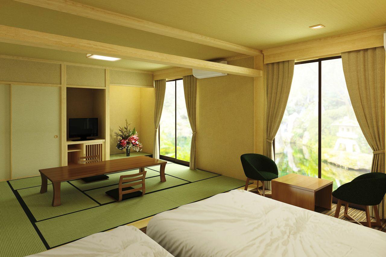 露天風呂付客室「桜の間」2