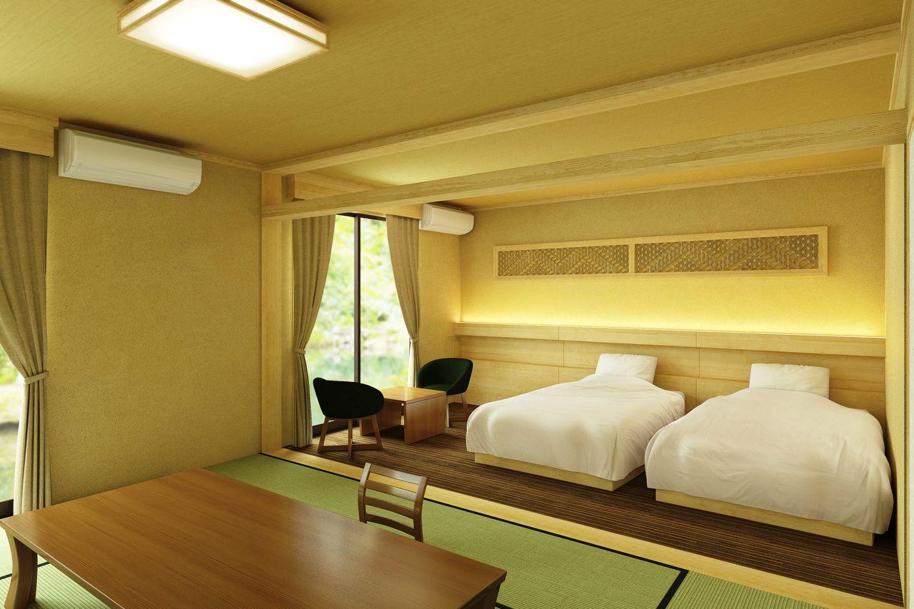 露天風呂付客室「桜の間」