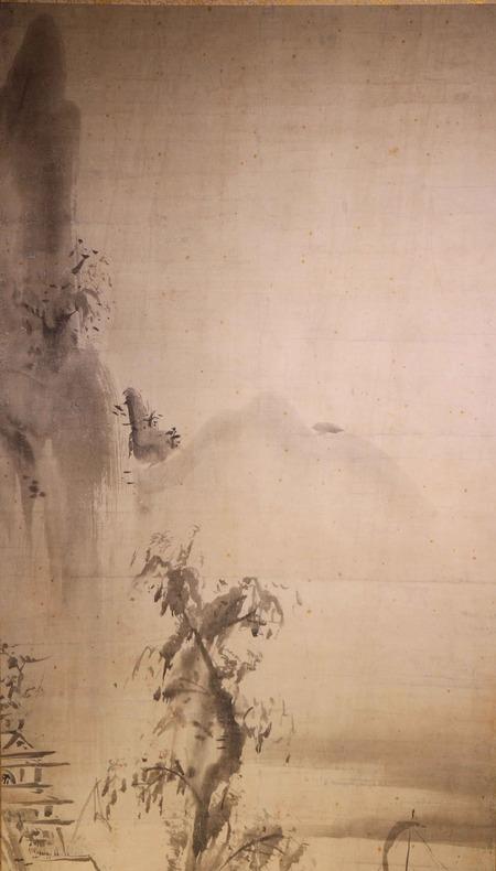 山口雪渓筆水墨山水図3